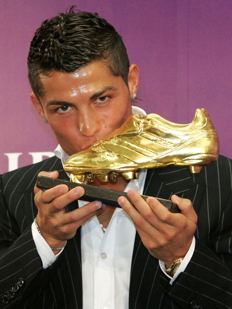 Cristiano Ronaldo alla cerimonia Golden Shoe 2008 a Funchal