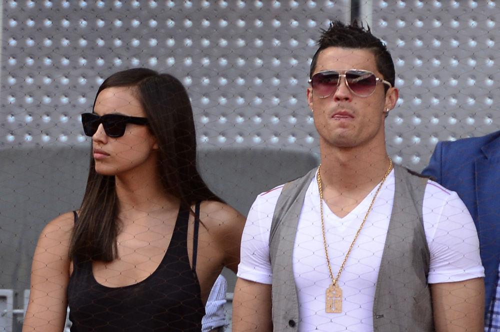 Il calciatore Cristiano Ronaldo con la sua partner, supermodella russa, Irina Shayk