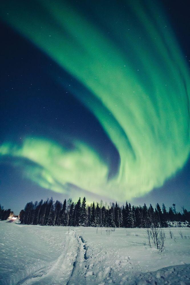 Spettacolare aurora boreale fotografata in Finlandia