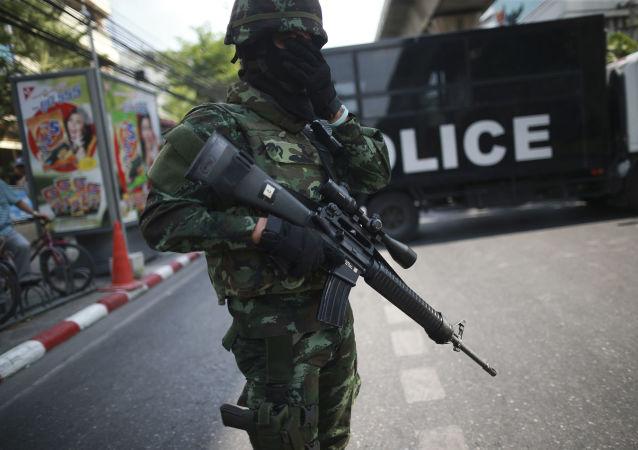 Un soldato  thailandese