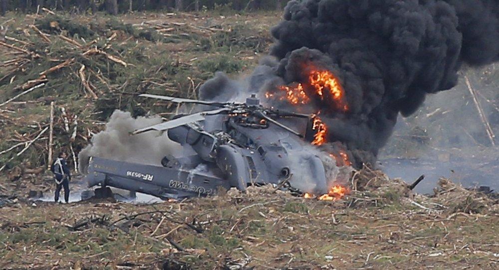 Schianto elicottero Mi-28 squadra acrobatica russa Berkut