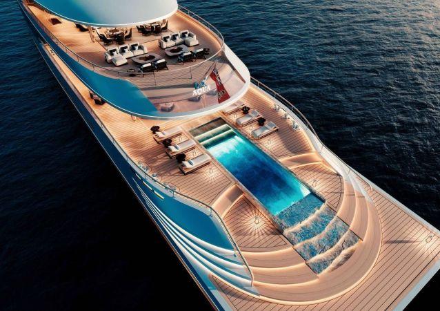 Aqua, un modello futuristico di yacht alimentato ad idrogeno