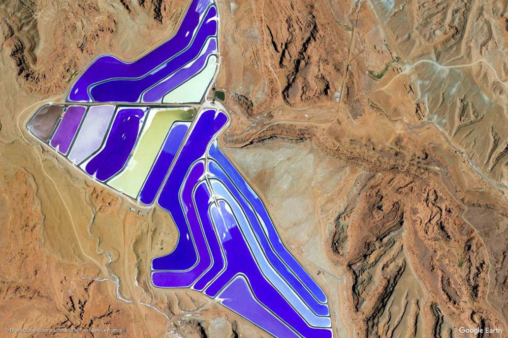 Vista di un'area vicino alla città di Moab, Utah, USA