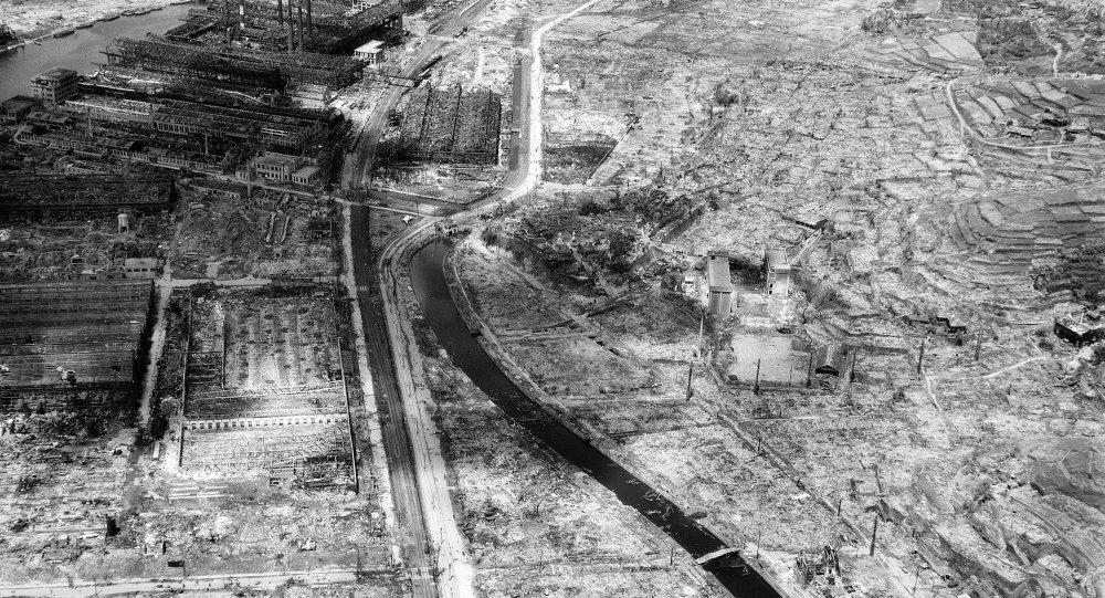 Nagasaki dopo bombardamento nucleare 1945