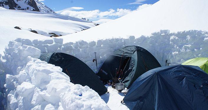 Le tende degli alpinisti