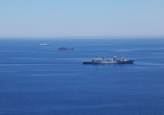 Navi militari russe nel Mediterraneo