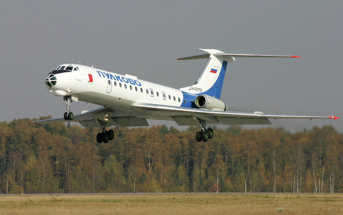 A Tupolev Tu-134 Crusty jetliner