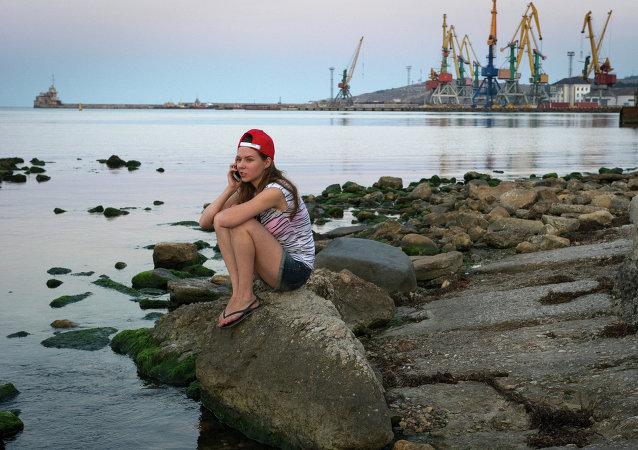 Porto di Feodosia, Crimea (foto d'archivio)