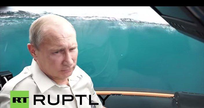 Putin sul fondo del mar Nero